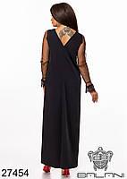 Свободное платье трапеция макси длины с прозрачными рукавами с 48 по 62 размер, фото 3