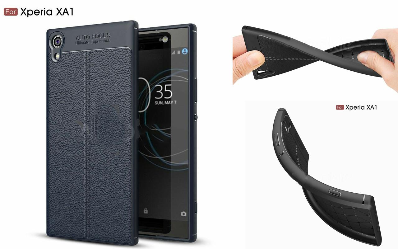 Бампер для Sony Xperia XA1 - Dark Blue - Deexe Cover