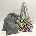 Эко-сумка, экосумка для покупок, торба шопер хлопок, авоська, экомешок, фото 2