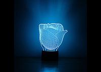 3D светильник (Роза)