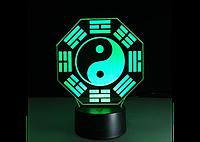 3D светильник  (Инь-Янь)