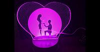 3D светильник (Романтика)