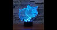 3D светильник  (Свинья)