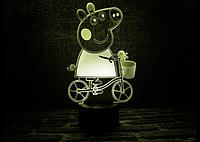 3D светильник (Свинка Пеппа)