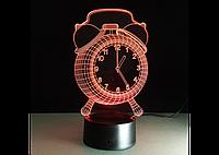 3D светильник  (Часы)