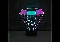 3D светильник (Алмаз)