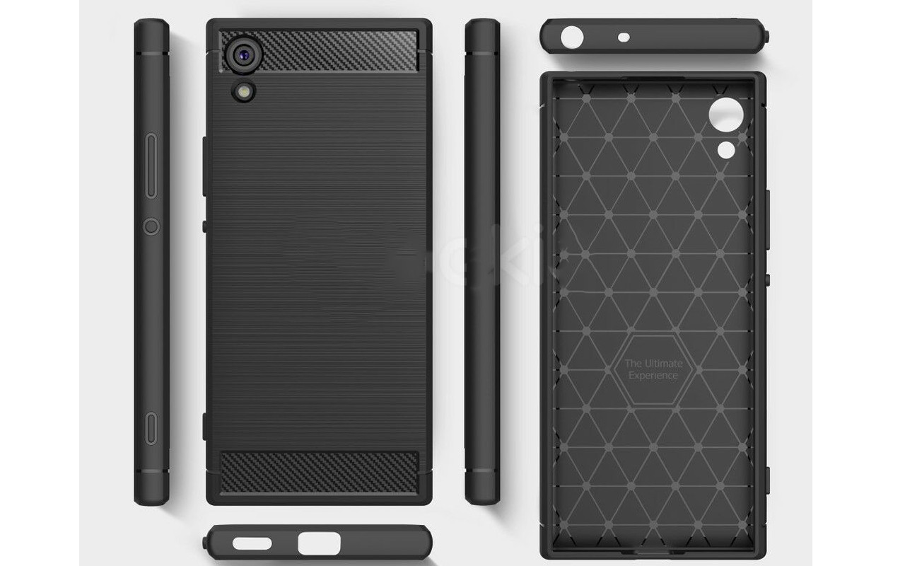 Бампер для Sony Xperia XA1 - Black- Carbon Cover