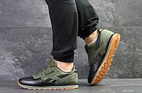 Мужские кроссовки в стиле Reebok, зеленые с черным 42 (26,8 см)