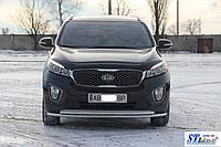 Передняя защита ST014 42/42мм (нерж) Kia Sorento UM 2015+ гг.