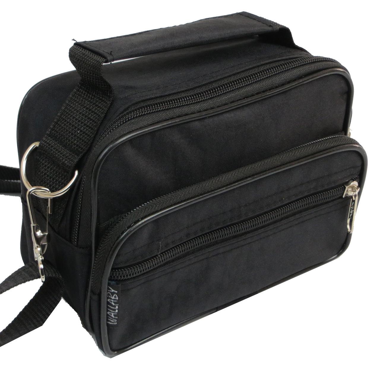 fe7ecffe3851 Мужская сумка через плечо Wallaby 2663 черная барсетка на пояс 19х14х7см -  Интернет-магазин