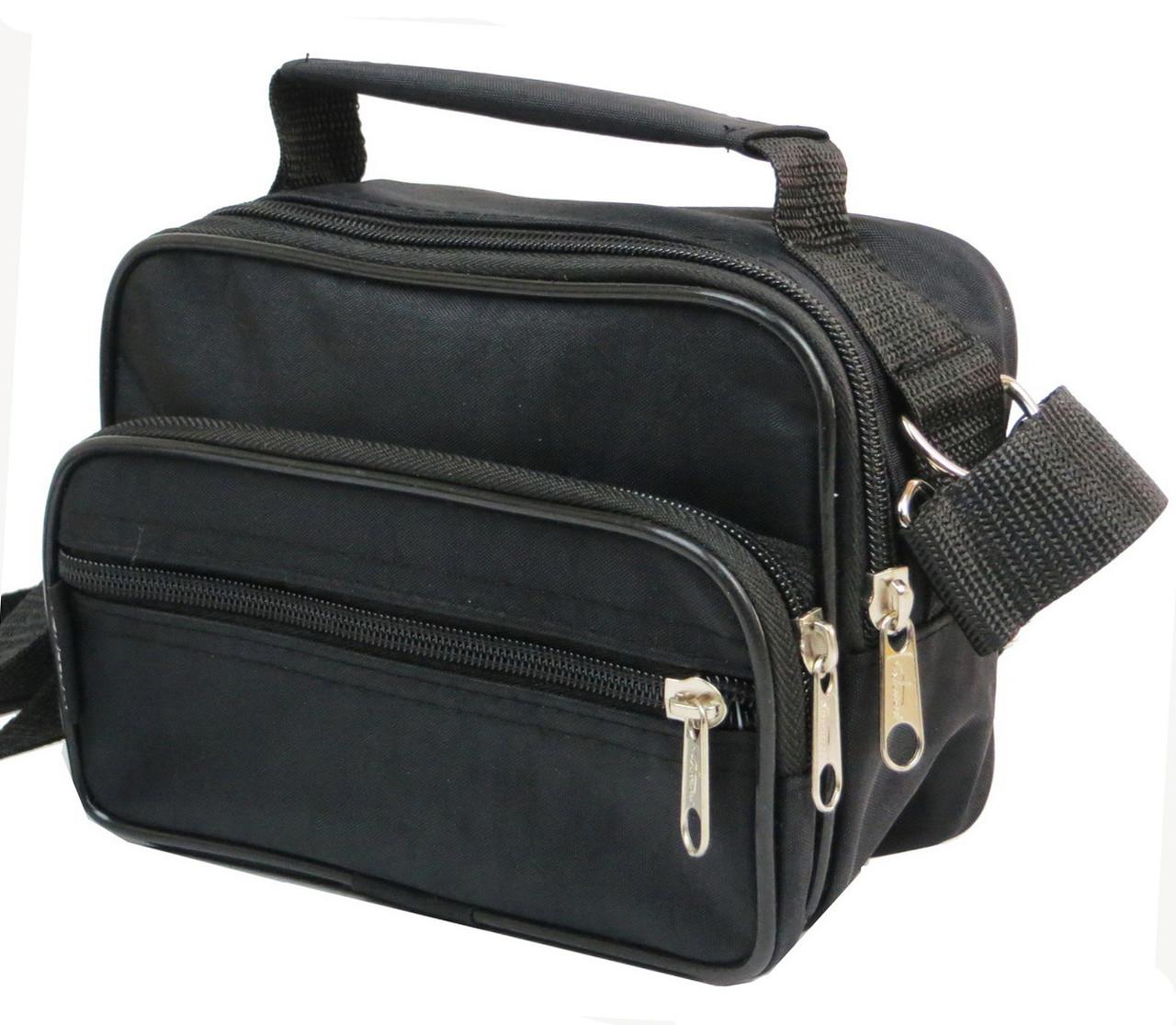 66f1574c4b61 Мужская сумка через плечо Wallaby 2663 черная барсетка на пояс 19х14х7см,  ...