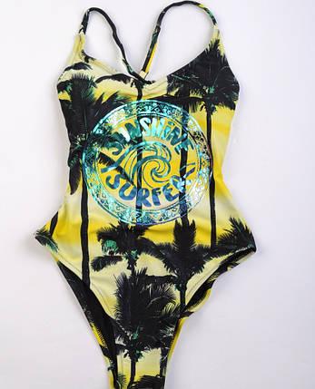 Сдельный подростковый купальник Rivage Line Желтый, фото 2