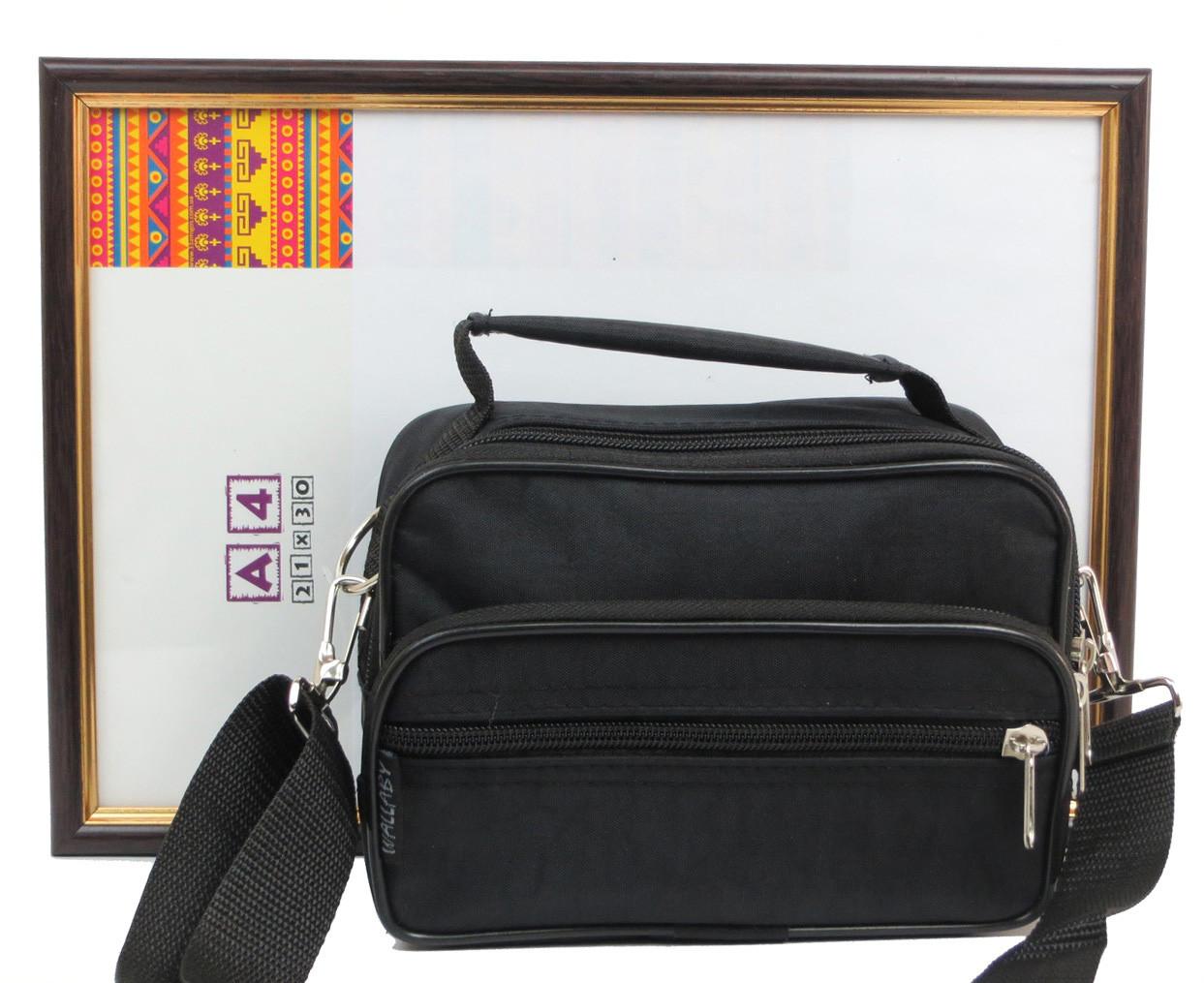 4ad936fde368 Мужская сумка через плечо Wallaby 2663 черная барсетка на пояс 19х14х7см,  цена 128 грн., купить в Харькове — Prom.ua (ID#349036750)
