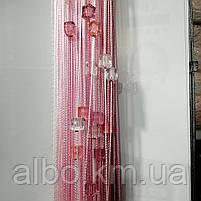 Веревочные шторы в зал спальню кухню, модные шторы с камнями радуга в детскую спальню комнату квартиру, шторы, фото 2