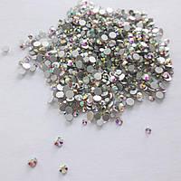 Стеклянные стразы пикси для декора ногтей 1800 шт  (crystal. ab)