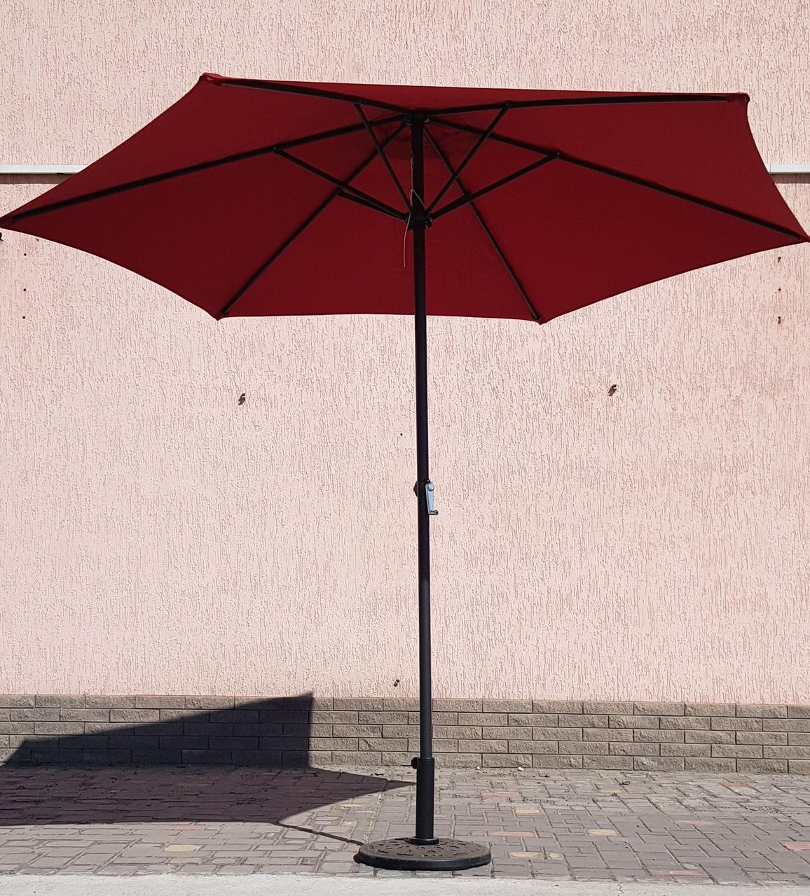 Зонт садовый, торговый, круглый, с клапаном, 2.7 м, мод-126