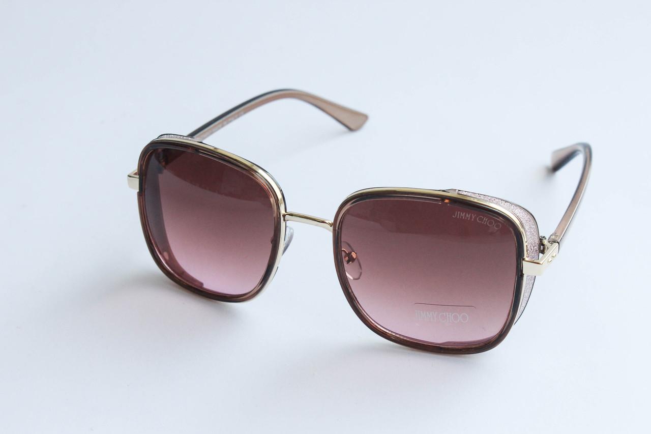 0e7459f70539 Очки солнцезащитные квадратной формы коричневого цвета - RUSH.OPT Женская  одежда, косметика, аксессуары