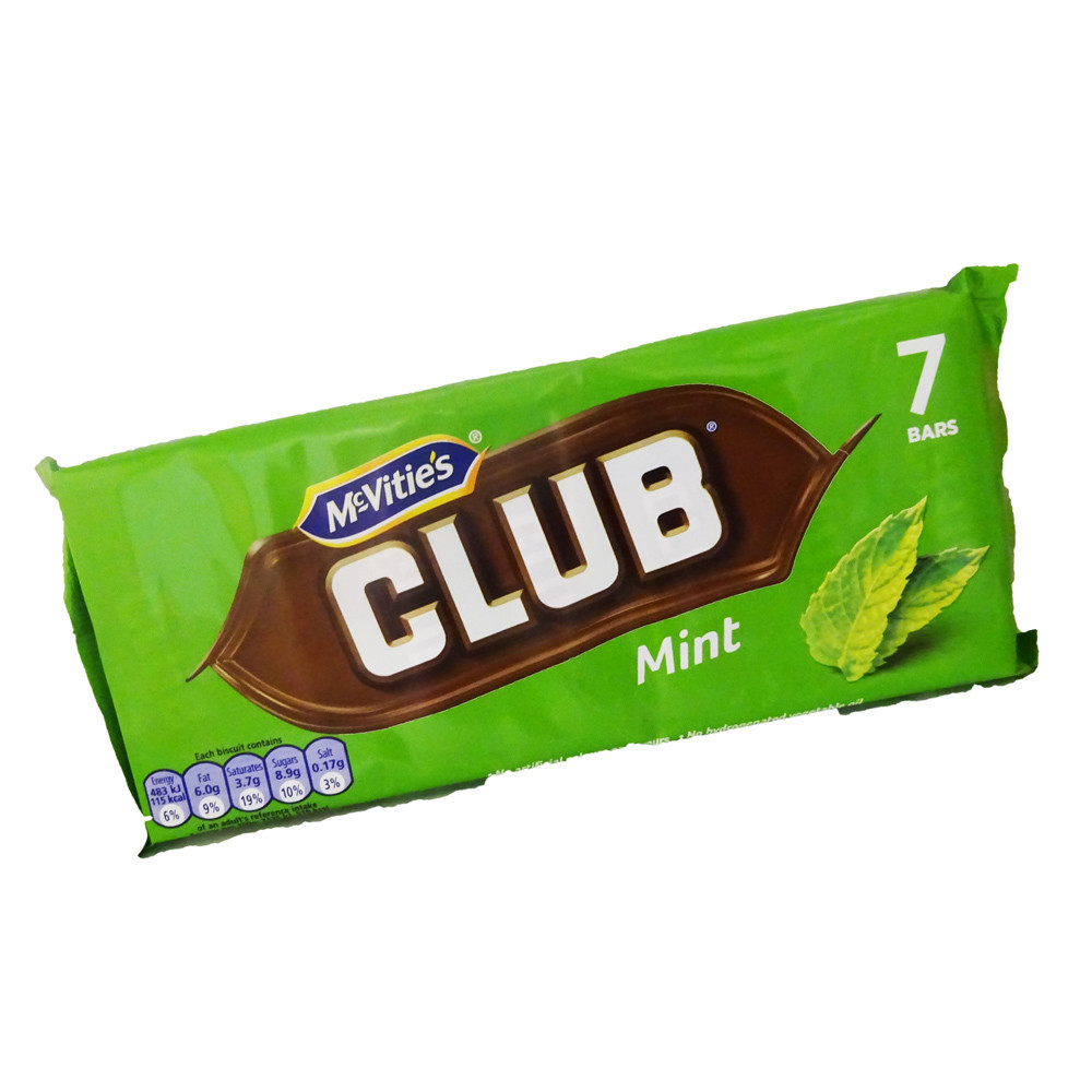 Печенье McVities Club Mint Упаковка