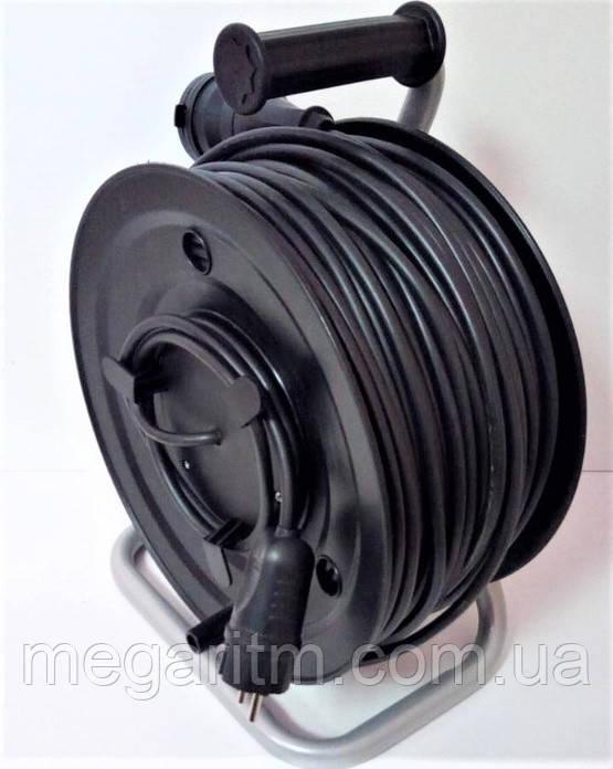 Подовжувач з заземленням з виносною розеткою  50 м  (ПВС 3х2,5, 5 кВт)