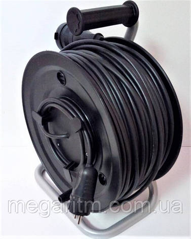 Подовжувач з заземленням з виносною розеткою  50 м  (ПВС 3х2,5, 5 кВт), фото 2