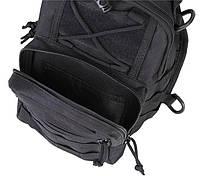 Сумка рюкзак тактическая городская повседневная TacticBag Черная, фото 2