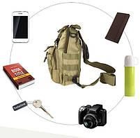 Сумка рюкзак тактическая городская повседневная TacticBag Кайот, фото 5