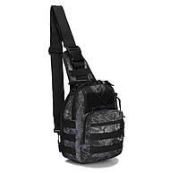 Сумка рюкзак тактическая городская повседневная TacticBag Черный питон