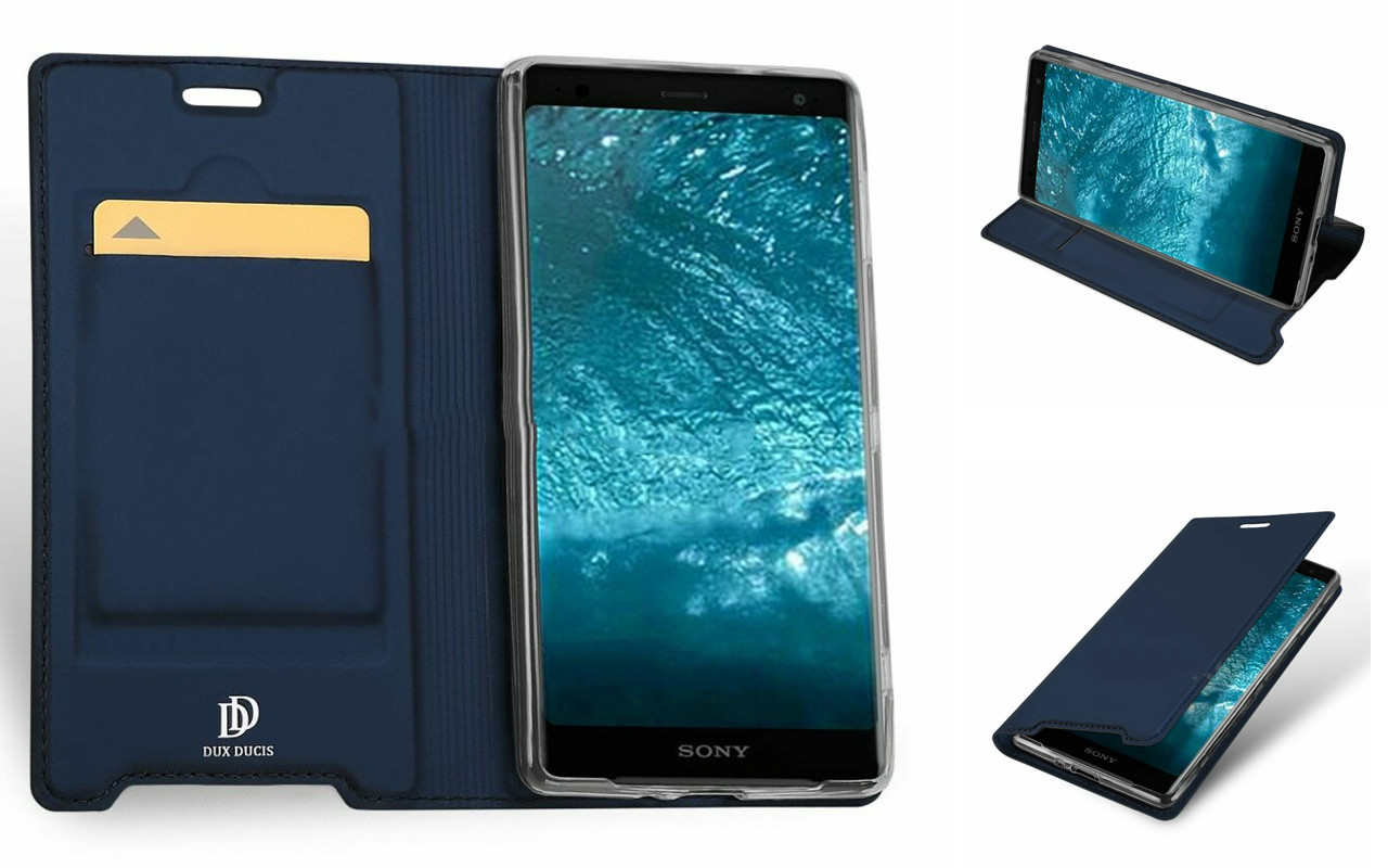 Чехол-книжка для Sony Xperia XZ3 - Dark Blue - DUCIS