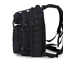 Тактический, городской, штурмовой,военный рюкзак TacticBag на 30-35литров Черный, фото 2