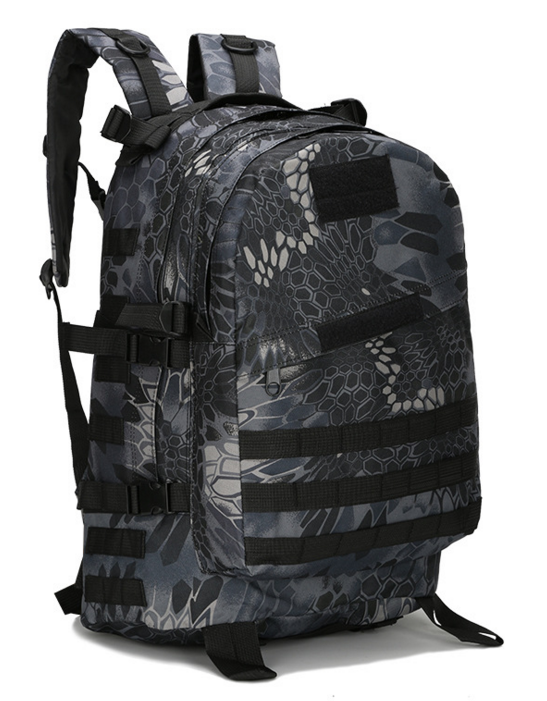 Городской тактический штурмовой военный рюкзак  TacticBag на 40литров Черный питон