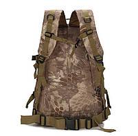 Городской тактический штурмовой военный рюкзак  TacticBag на 40литров Черный питон, фото 2