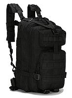 Тактический штурмовой военный городской рюкзак TacticBag на 23-25литров Черный