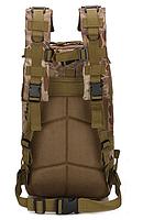 Тактический штурмовой военный городской рюкзак TacticBag на 23-25литров Черный питон, фото 3
