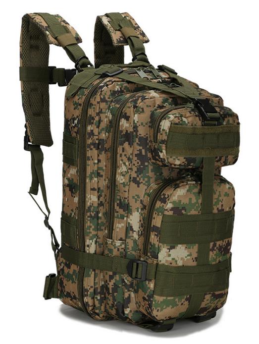 Тактический штурмовой военный городской рюкзак TacticBag на 23-25литров Американский пиксель