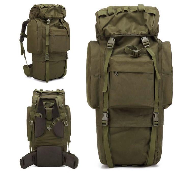 Тактический туристический рюкзак TacticBag на 65-70 литров Хаки