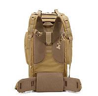 Тактический туристический рюкзак TacticBag на 65-70 литров Хаки, фото 2