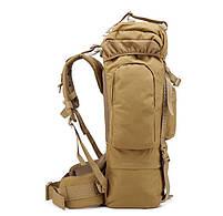 Тактический туристический рюкзак TacticBag на 65-70 литров Хаки, фото 3
