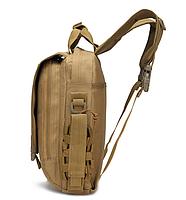 Сумка-рюкзак тактическая,городская,деловая  TacticBag Кайот, фото 2