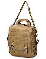 Сумка-рюкзак тактическая,городская,деловая  TacticBag Кайот, фото 4