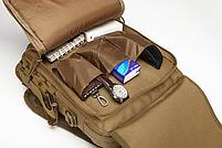 Сумка-рюкзак тактическая,городская,деловая  TacticBag Черная, фото 7