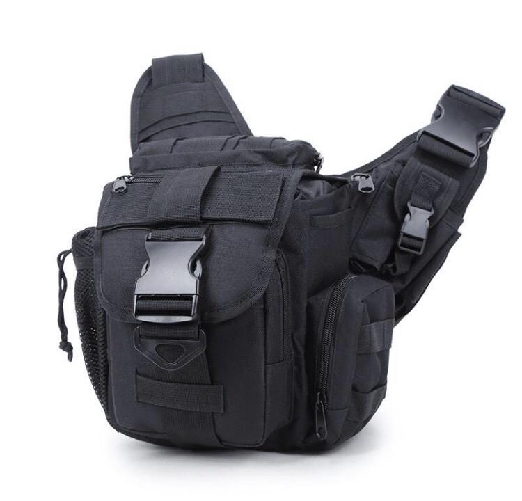 Городская тактическая штурмовая сумка TacticBag Черная