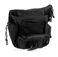 Городская тактическая штурмовая сумка TacticBag Черная, фото 3