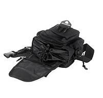 Городская тактическая штурмовая сумка TacticBag Черная, фото 4