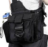 Городская тактическая штурмовая сумка TacticBag Черная, фото 5