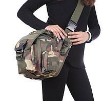 Городская тактическая штурмовая сумка TacticBag Черная, фото 6