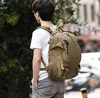 Рюкзак тактический, штурмовой, городской TacticBag на 35литров Черный, фото 6