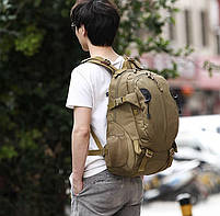 Рюкзак тактический, штурмовой, городской TacticBag на 35литров Хаки, фото 6