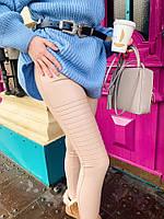 Женские стильные лосины с декором в расцветках. М-9-0419