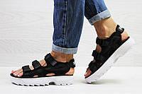 Женские сандали в стиле Fila, черные 36 (23 см)