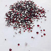 Стеклянные стразы для декора ногтей 1800 шт (dk. siam)